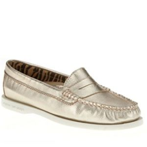 Sperry Hayden Metallic Penny Loafers